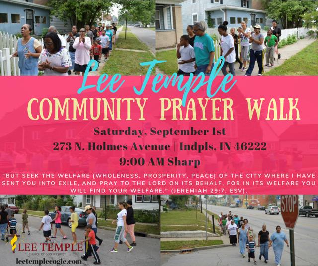 Annual Prayer Walk – Lee Temple COGIC