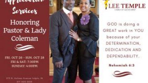 1st Annual Pastor & Wife Appreciation Service