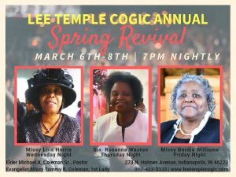 Lee Temple COGIC – Church Of God In Christ