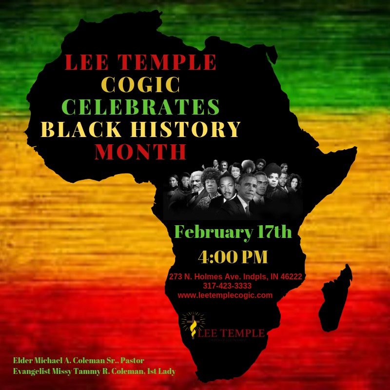 Our Annual Black History Program – Lee Temple COGIC