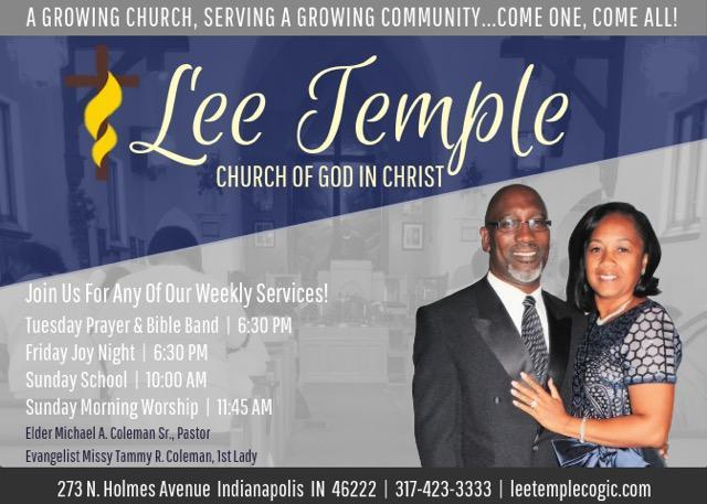 Lee Temple COGIC