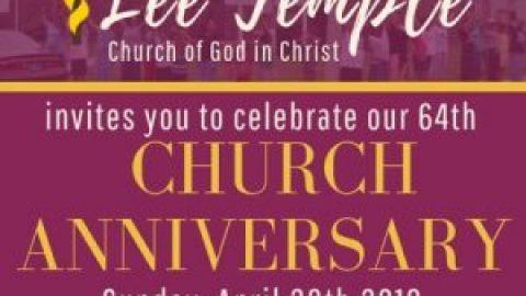 64th Church Anniversary