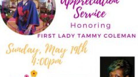 First lady Appreciation Service
