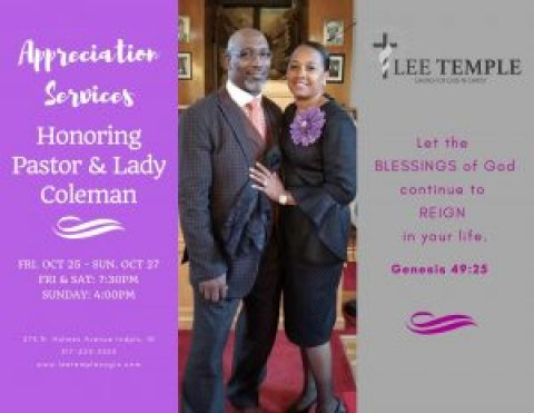 2nd Annual Pastor & Wife Anniversary