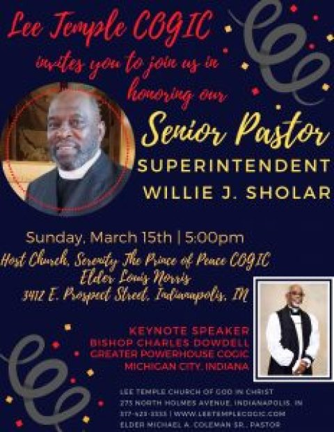 Our Appreciation Service For Our Supt. Willie Sholar