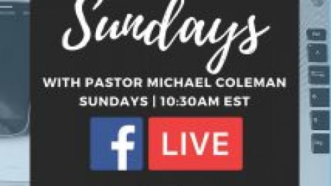 Due to Covid-19 we will have sunday service via Facebook Live