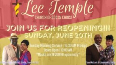 Reopening Of Our Church