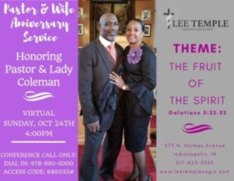 Pastor and Wife 4th Anniversary